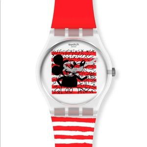 Swatch Keith Haring Mickey Mouse watch NIP